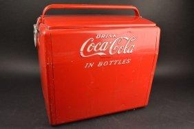 1950's Cavalier Coca-cola Metal Cooler Ice Chest