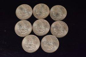 (8) Morgan Silver Dollars
