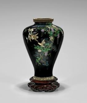 Antique Japanese CloisonnÉ Enamel Vase