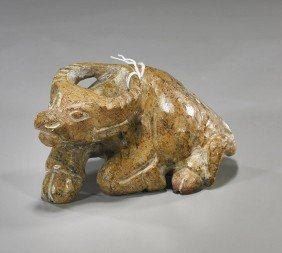 Three Archaistic Carved Jade/Hardstone Items