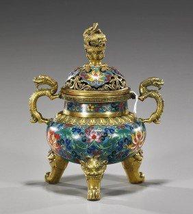Chinese Cloisonn� Enamel Tripod Koro