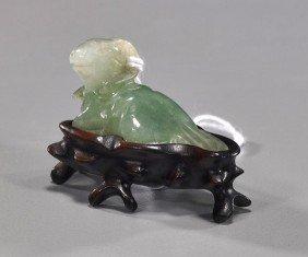 Chinese Miniature Carved Jadeite Ram