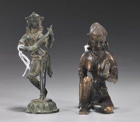 Two Antique Indian/Nepalese Bronzes