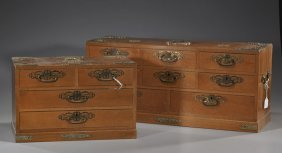 Two Rectangular Asian Jewelry Chests