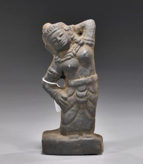 Asian Stone Carving Of A Woman: Khmer(?)