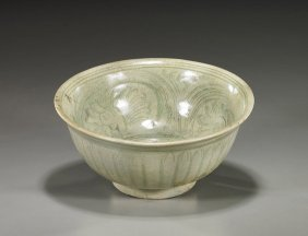 Antique Sawankholok Celadon Glazed Bowl