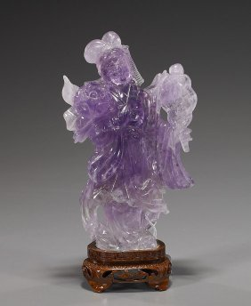 Chinese Carved Amethyst Quartz Beauty