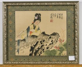 Four Various Chinese Flatworks: Beauties & Lohan