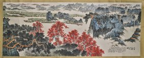 Massive Chinese Paper Painting: Jiangnan Mountains