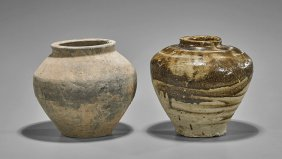 Two Early Chinese Stoneware Jars