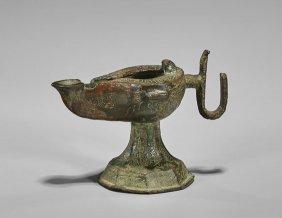 Near Eastern Bronze Oil Lamp