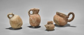 Four Holyland Terracotta Jugs