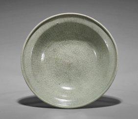 Ming Dynasty Celadon Crackle Glaze Bowl