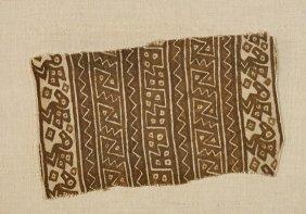 Two Antique Geometric Fragments: Textile & Tile