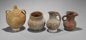 Four Antique Omani Pottery Vessels