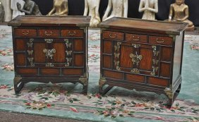 Pair Of Small Korean Tansu Chests