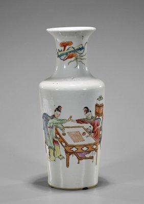 Old Kangxi-style Enameled Porcelain Vase