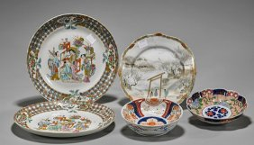 Five Antique Chinese Porcelain Dishes
