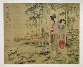 Chinese Silk Painting: Ladies