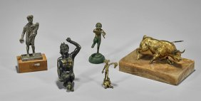 Five Small Bronze Figures