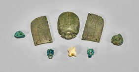 Group Of Six Egyptian Amulets