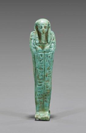 Egyptian Turquoise Faience Ushabti