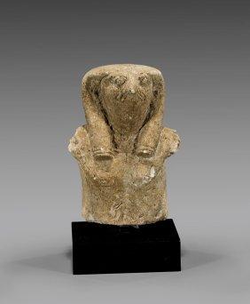 Egyptian Sandstone Falcon-headed Horus Bust