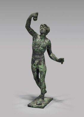 Small Roman Bronze Figure Of An Athelte