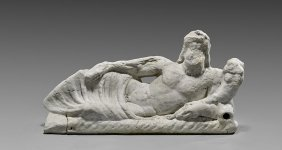 Roman Carved Marble Figure: Reclining Tiber