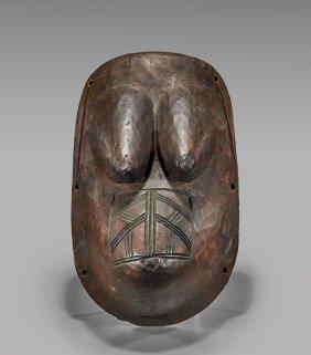 Makonde Carved Wood Body Mask