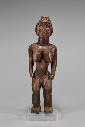 Mossi Carved Wood Figural Statue