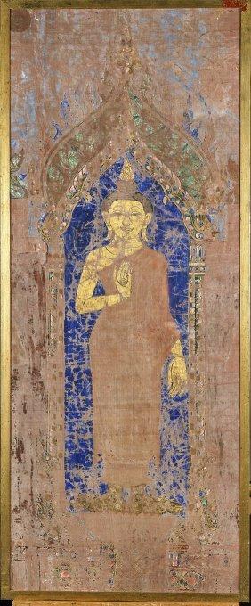 Southeast Asian Cloth Painting: Buddha
