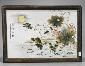 Chinese Enameled Porcelain Tile