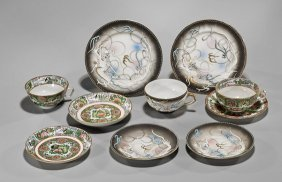 Ten Chinese & Japanese Porcelain Tea Dishes