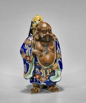 Antique Japanese Kutani Porcelain Figure