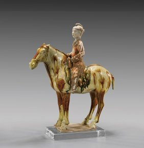 Tang Dynasty Sancai Pottery Equestrian