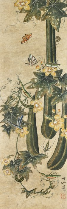 Antique Korean Painting: Insects & Flowers