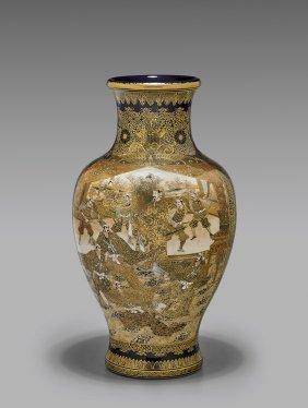 Antique Kinkozan Satsuma Vase