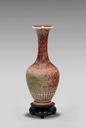Kangxi Period 'peachbloom' Porcelain Vase