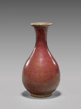 Antique Chinese FlambÉ Glazed Vase