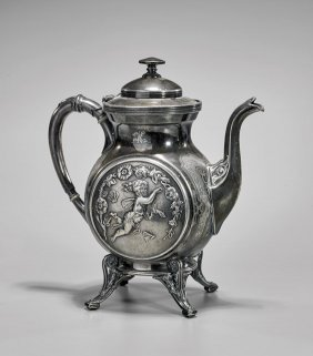 Antique Reed & Barton Silverplate Teapot
