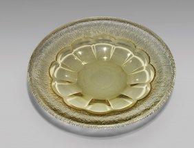Large Art Deco Daum Nancy Glass Charger