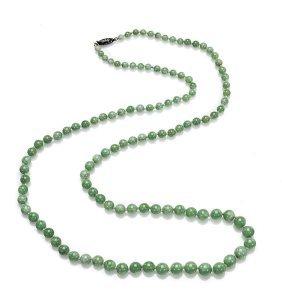 Antique Jadeite Bead Necklace
