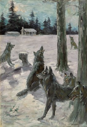 Oil Painting By Joseph Henry Sharpe