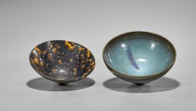 Two Chinese Song-style Glazed Bowls