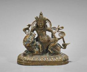 Sino-tibetan Bronze Protector Deity