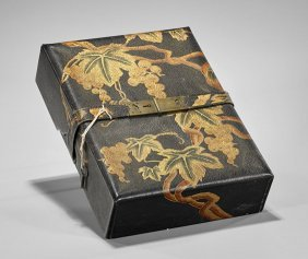 Antique Japanese Lacquered Leather Box