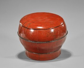 Antique Chinese Red Lacquered Box