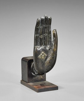 Old Southeast Asian Bronze Hand
