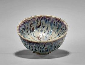 Antique Chinese Splash Glazed Bowl